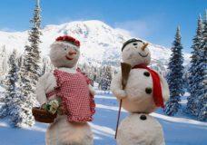 Schneemänner - Winterurlaub im Alpenpark
