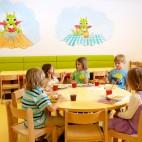 Abgetrennter Kinderspeisesaal