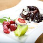 Schoko-Dessert im Alpenpark