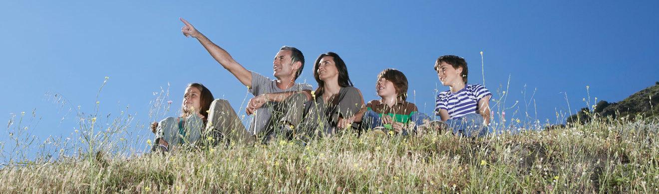 Entspannte Zeit mit der Familie verbringen