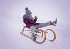 Schlittenfahren - Winterurlaub Seefeld